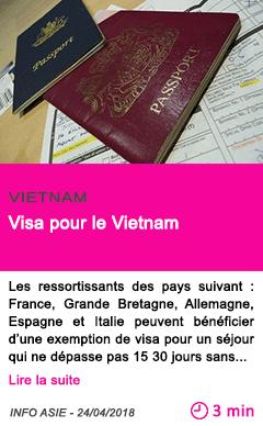 Societe visa pour le vietnam