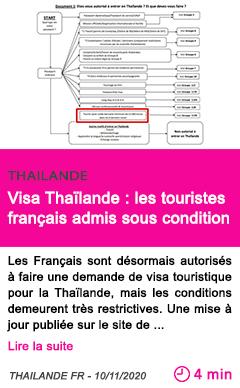 Societe visa thai lande les touristes franc ais admis sous condition