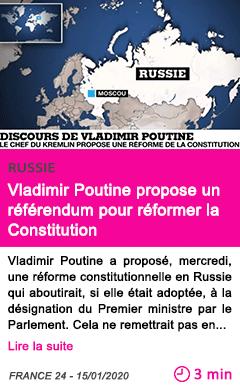 Societe vladimir poutine propose un referendum pour reformer la constitution 1