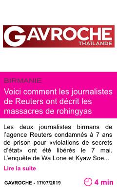 Societe voici comment les journalistes de reuters ont decrit les massacres de rohingyas page001