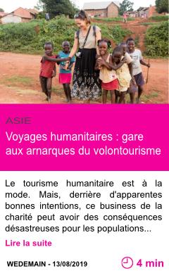 Societe voyages humanitaires gare aux arnarques du volontourisme page001