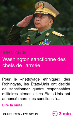 Societe washington sanctionne des chefs de l armee page001