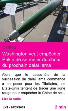 Societe washington veut empecher pekin de se meler du choix du prochain dalai lama page001