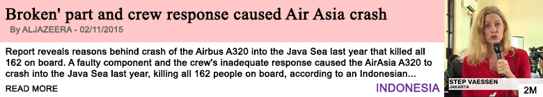 Society broken part and crew response caused airasia crash