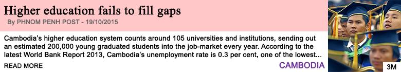 Society higher education fails to fill gaps