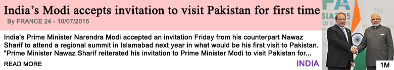 Society india s modi accepts invitation to visit pakistan for first time