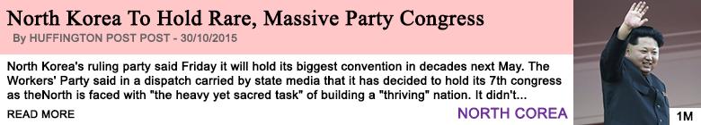 Society north korea to hold rare massive party congress