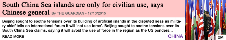 Society south china sea islands are only for civilian use says chinese general
