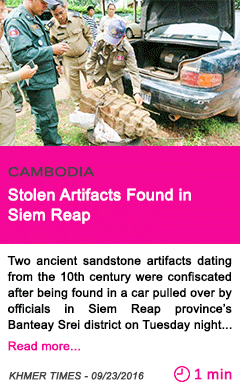 Society stolen artifacts found in siem reap