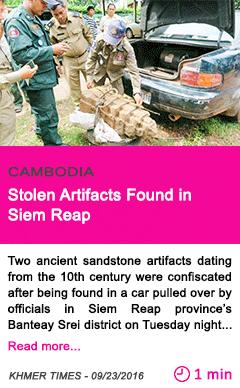 Society stolen artifacts found in siem reap
