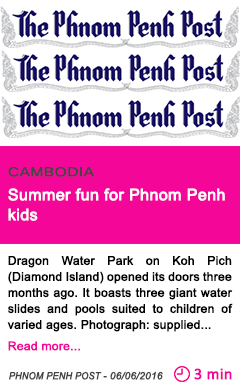 Society summer fun for phnom penh kids