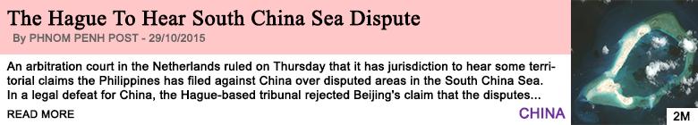 Society the hague to hear south china sea dispute