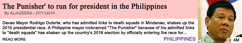 Society the punisher to run for president in the philippines