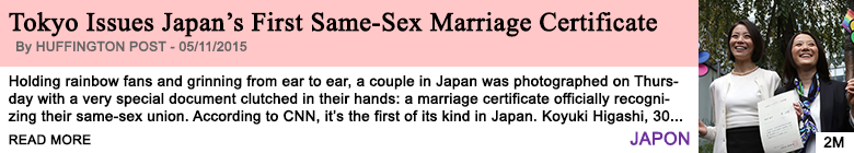 Society tokyo issues japan s first same sex marriage certificate