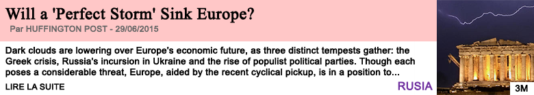 Society will a perfect storm sink europe