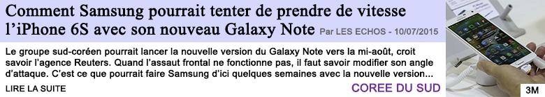 Tech internet comment samsung pourrait tenter de prendre de vitesse l iphone 6s avec son nouveau galaxy note