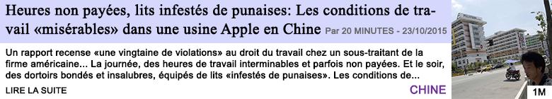 Tech internet heures non payees lits infestes de punaises les conditions de travail miserables dans une usine apple en chine