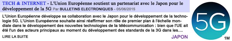 Tech internet l union europeenne soutient un partenariat avec le japon pour le developpement de la 5g