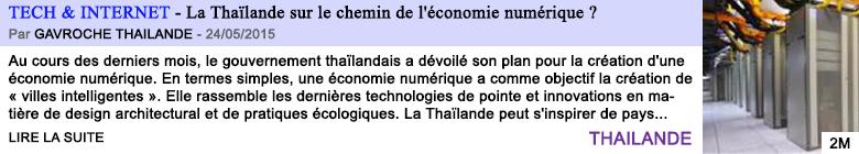 Tech internet la thailande sur le chemin de l economie numerique