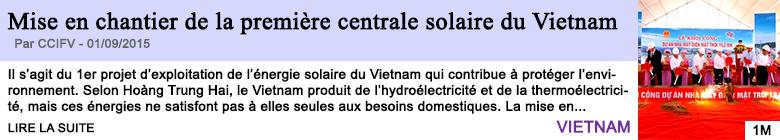 Tech internet mise en chantier de la premiere centrale solaire du vietnam
