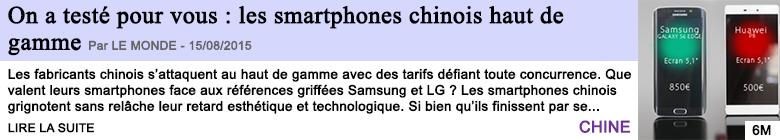 Tech internet on a teste pour vous les smartphones chinois haut de gamme