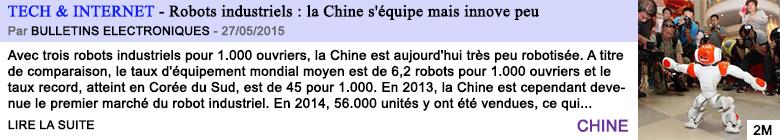 Tech internet robots industriels la chine s equipe mais innove peu