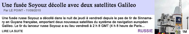 Tech internet une fusee soyouz decolle avec deux satellites galileo