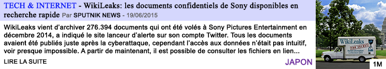 Tech internet wikileaks les documents confidentiels de sony disponibles en recherche rapide