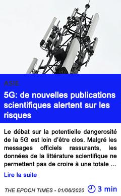 Technologie 5g de nouvelles publications scientifiques alertent sur les risques