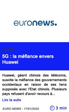 Technologie 5g la mefiance envers huawei 1