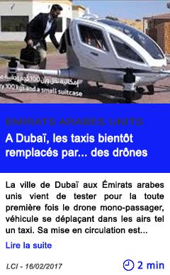 Technologie a dubai les taxis bientot remplaces par