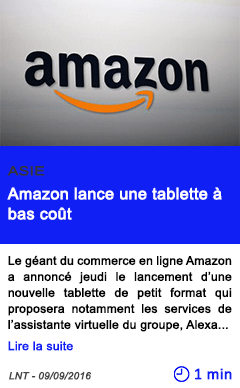 Technologie amazon lance une tablette a bas cout