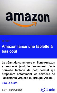 Technologie amazon lance une tablette a bas cout