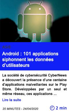 Technologie android 101 applications siphonnent les donnees d utilisateurs