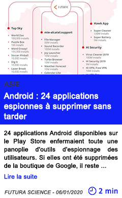 Technologie android 24 applications espionnes a supprimer sans tarder 1