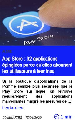Technologie app store 32 applications epinglees parce qu elles abonnent les utilisateurs a leur insu