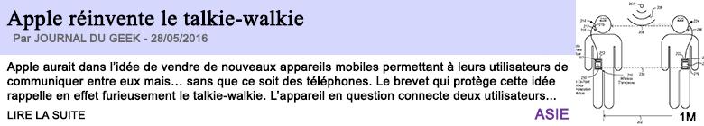 Technologie apple reinvente le talkie walkie