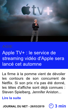 Technologie apple tv le service de streaming video d apple sera lance cet automne page001