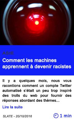 Technologie asie comment les machines apprennent a devenir racistes