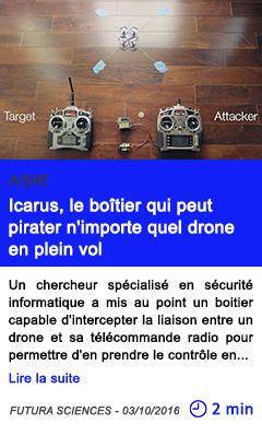 Technologie asie icarus le boitier qui peut pirater n importe quel drone en plein vol