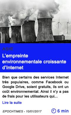 Technologie asie l empreinte environnementale croissante d internet