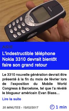 Technologie asie l indestructible telephone nokia 3310 devrait bientot faire son grand retour