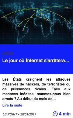 Technologie asie le jour ou internet s arretera