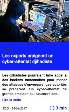 Technologie asie les experts craignent un cyber attentat djihadiste