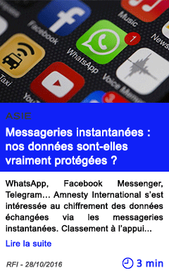 Technologie asie messageries instantanees nos donnees sont elles vraiment protegees