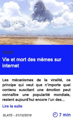 Technologie asie vie et mort des memes sur internet