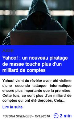Technologie asie yahoo un nouveau piratage de masse touche plus d un milliard de comptes