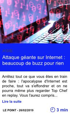 Technologie attaque geante sur internet beaucoup de buzz pour rien page001