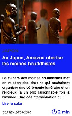 Technologie au japon amazon uberise les moines bouddhistes