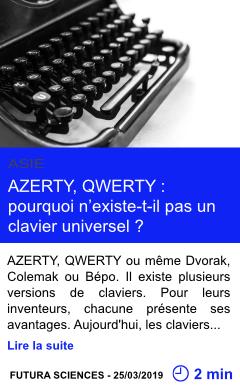 Technologie azerty qwerty pourquoi n existe t il pas un clavier universel page001